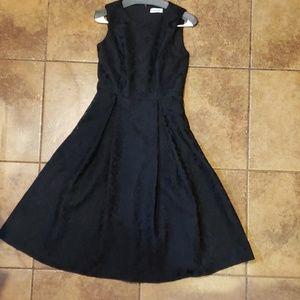 Calvin Klein size 4 women's dress black lace